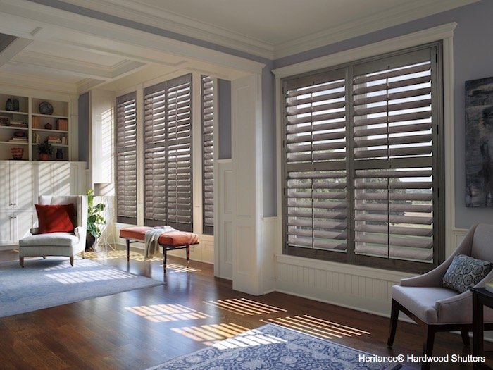 Heritance Hardwood Shutters by Hunter Douglas at The Blinds Man