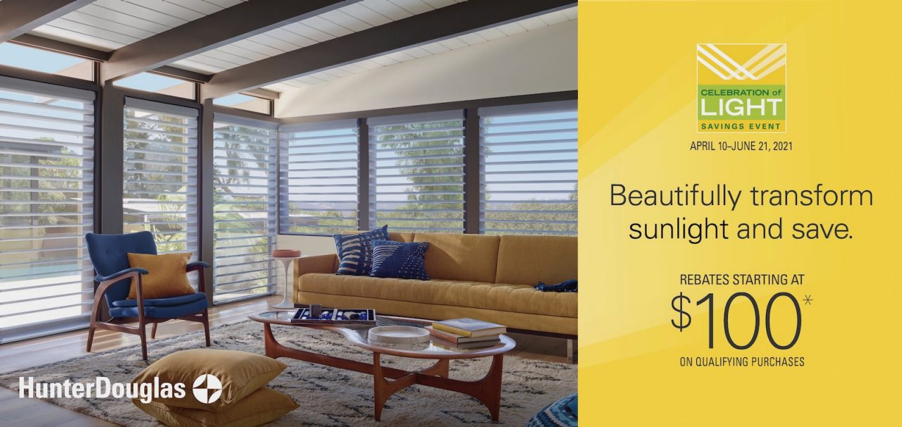 Season of Style Savings Event from Hunter Douglas at the Blinds Man in Lexington Kentucky